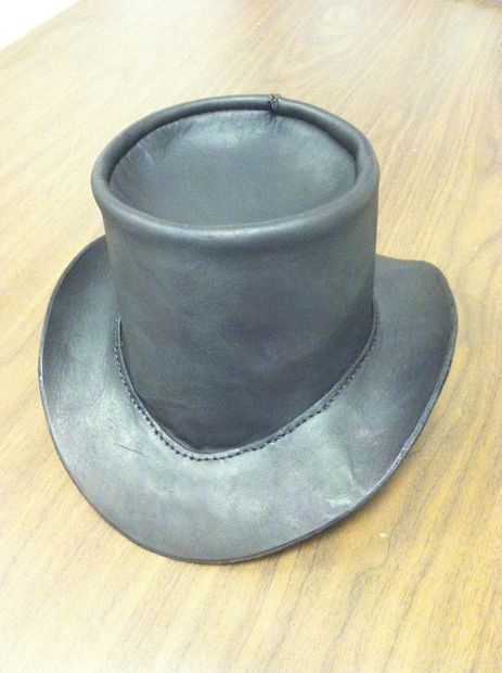 How to Make a Leather Top Hat (I m thinking buckram and silk will be  happening here. d9bbc00423fe