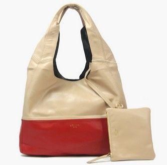 Celine Cabas Lambskin Bags Apricot Red [Celine-251] - €168.00