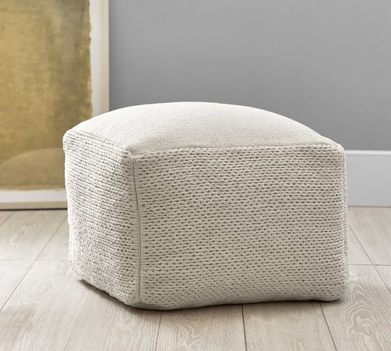 Braided Handwoven Pouf Pouf High Rise Apartment Decor
