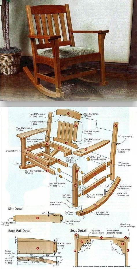 Arts Crafts Rocking Chair Plan Furniture Plans And Projects