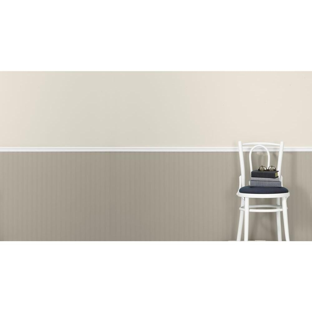 Martha Stewart Living 56 Sq. Ft. 1 Double Roll Beadboard Paintable Wallpaper  02