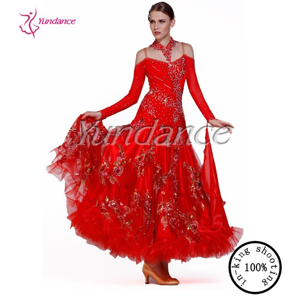 Click to buy ucuc red stage new ballroom dance dress for girls