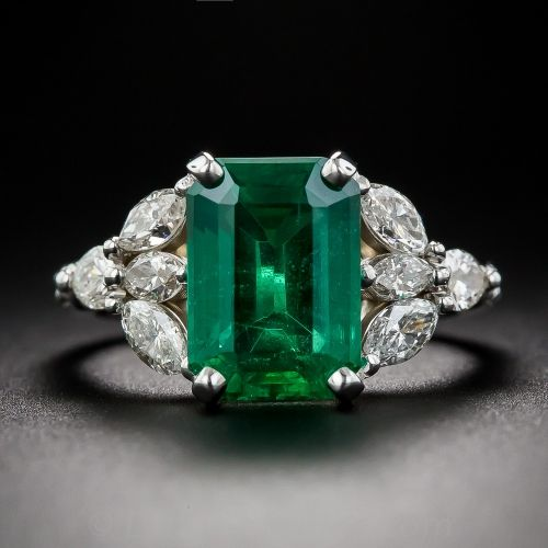 emerald jewelry hawaii platinum colombian fine sale diamond rings estate collections report ring pt large gia