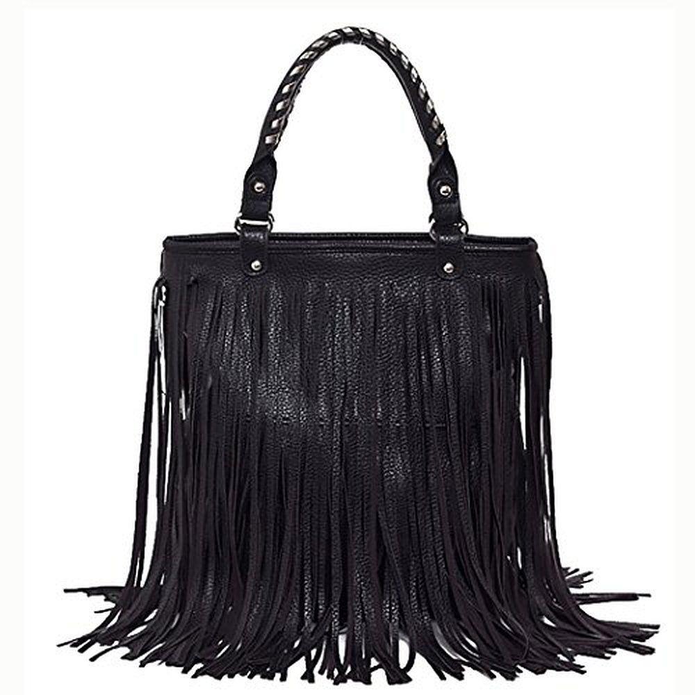 Bag · Coofit Lady  Punk Tassel Fringe Handbag Purse Hobo Tote with Shoulder  Strap 5e82fbb67e284