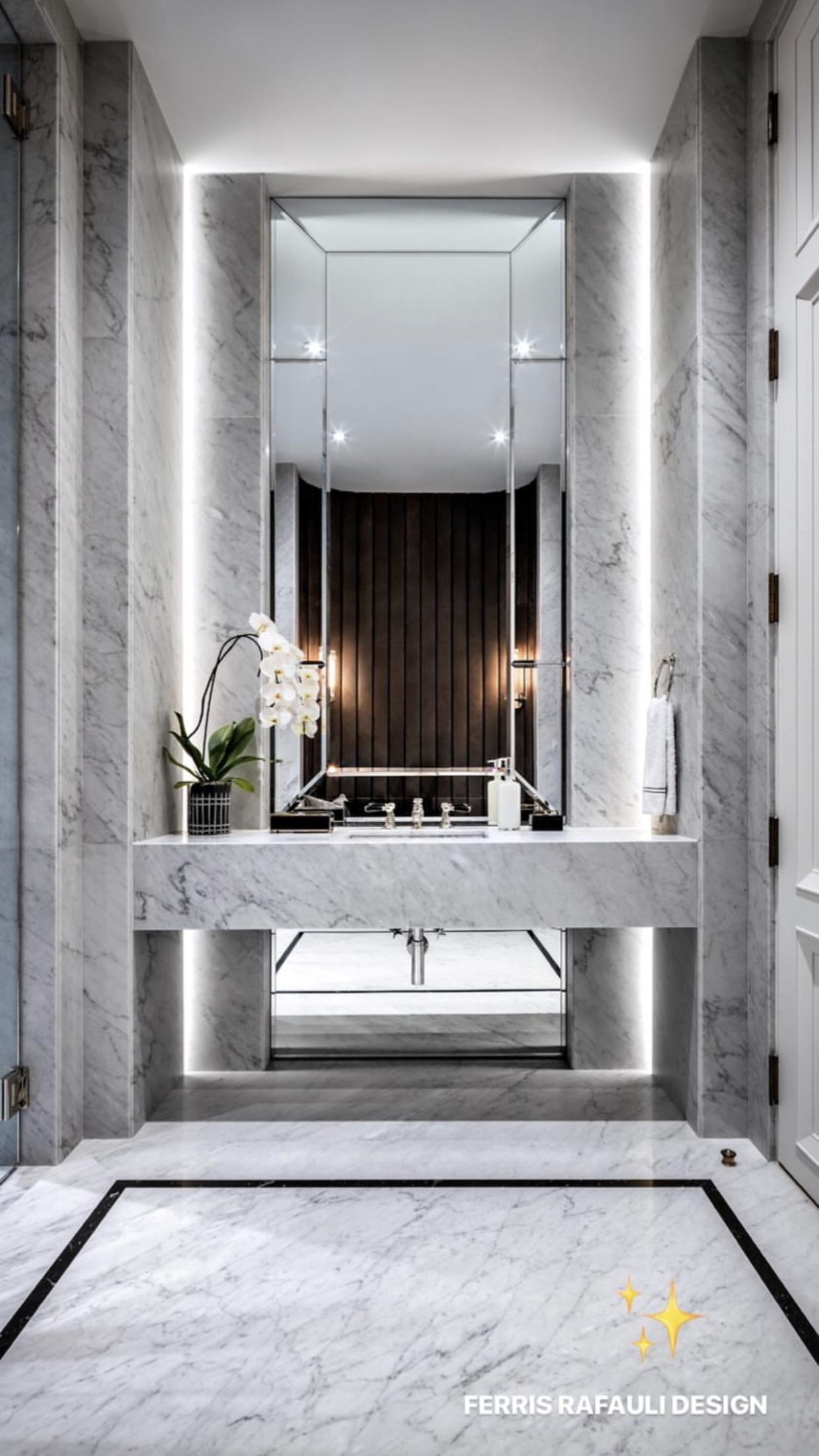 Nadire Atas On Luxury Marble Bathrooms Minimalist Bathroom Design Luxury Powder Room Elegant Bathroom