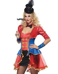 36f3a5bb3 Lion Tamer Costume For Women & Ringmaster Circus Lion Tamer Showgirl ...