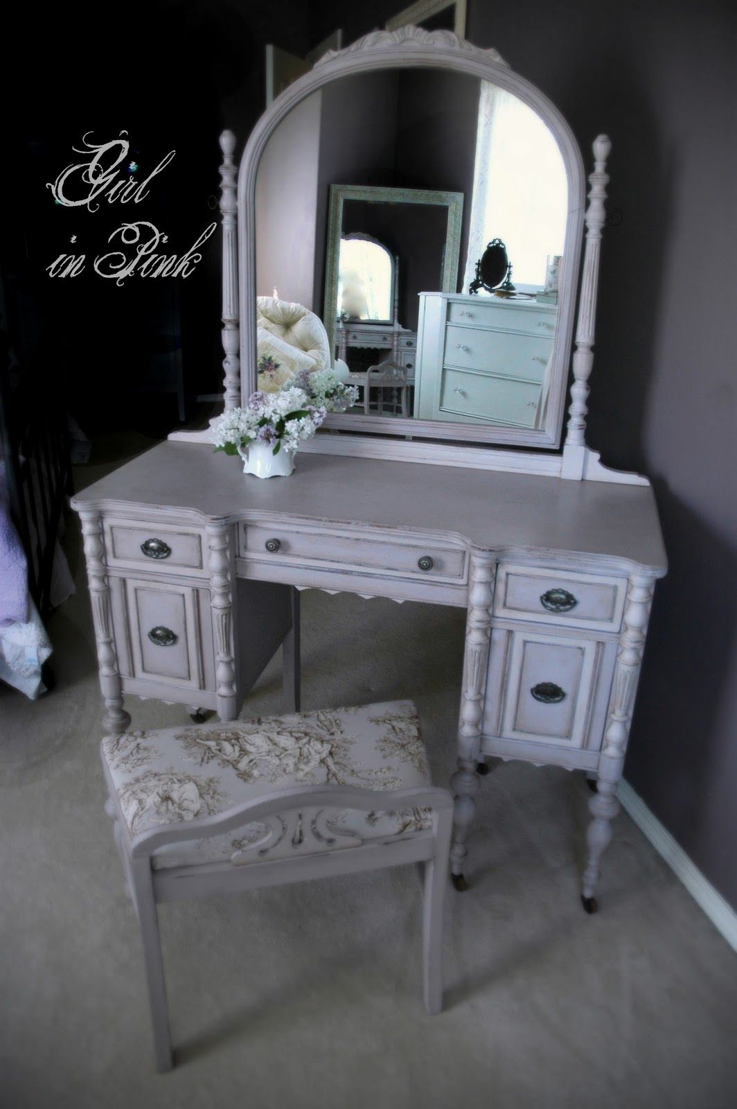 Painted Vanity Furniture: Crafty Creations In 2019