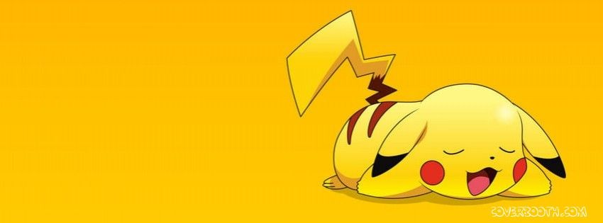 Pikachu yellow facebook background cover   marz   Pinterest ...