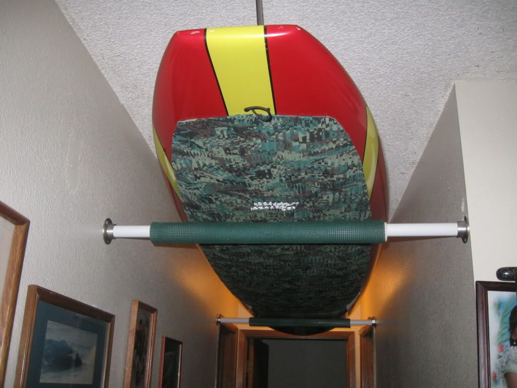 Paddleboard Ceiling Storage Idea Save So Much E And Money On Ing A Rack When You Can Make One Like This