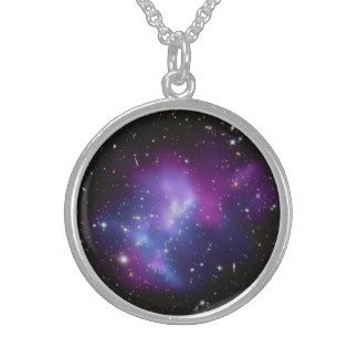 Galaxy Print Sterling Pendant Necklace