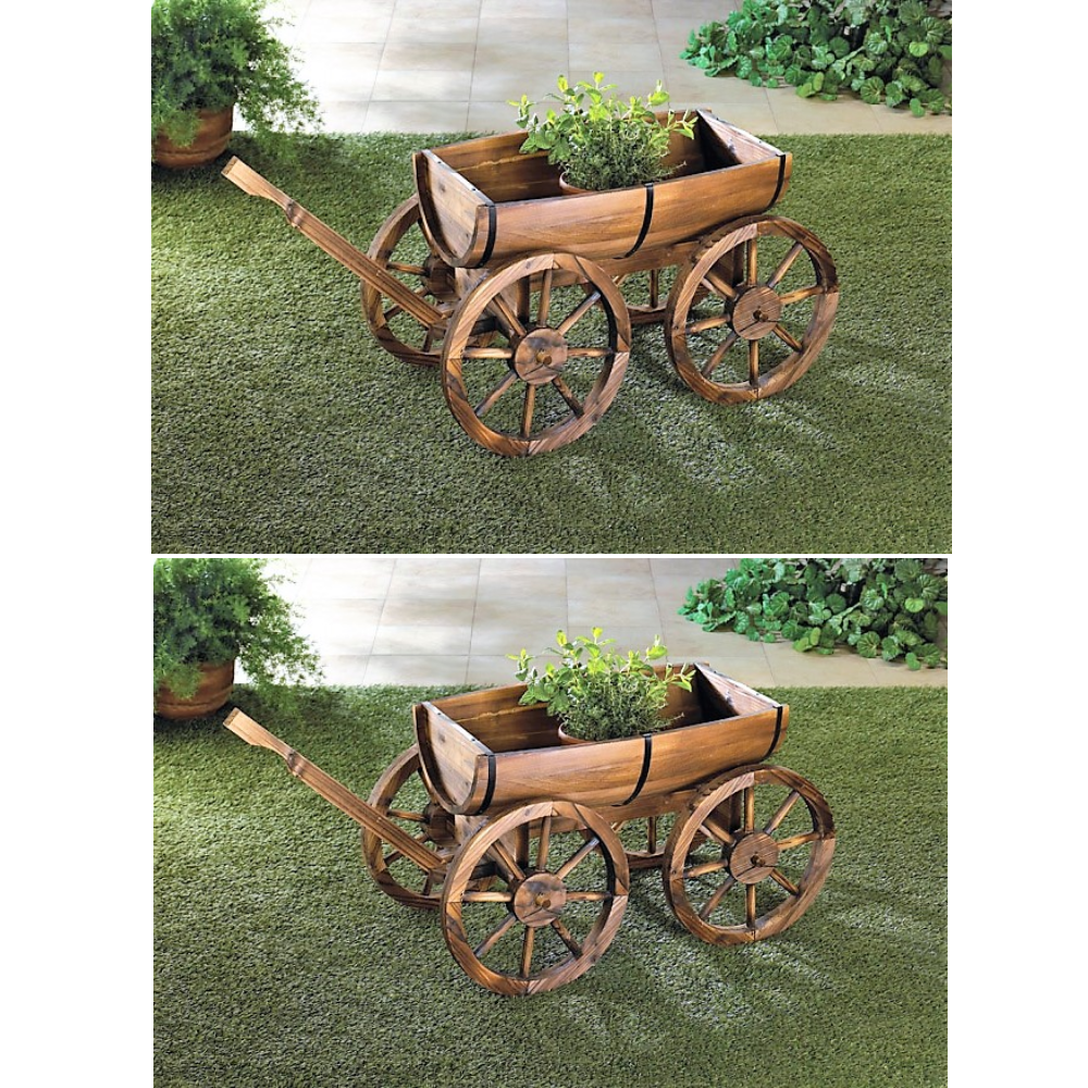Pin By Gigi On Diy Garden Yard Decor Wagon Wheel Wooden Wagon