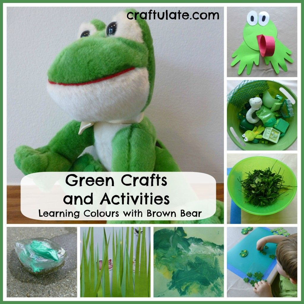 Learning Colours with Brown Bear | Green craft, Learning colors and ...