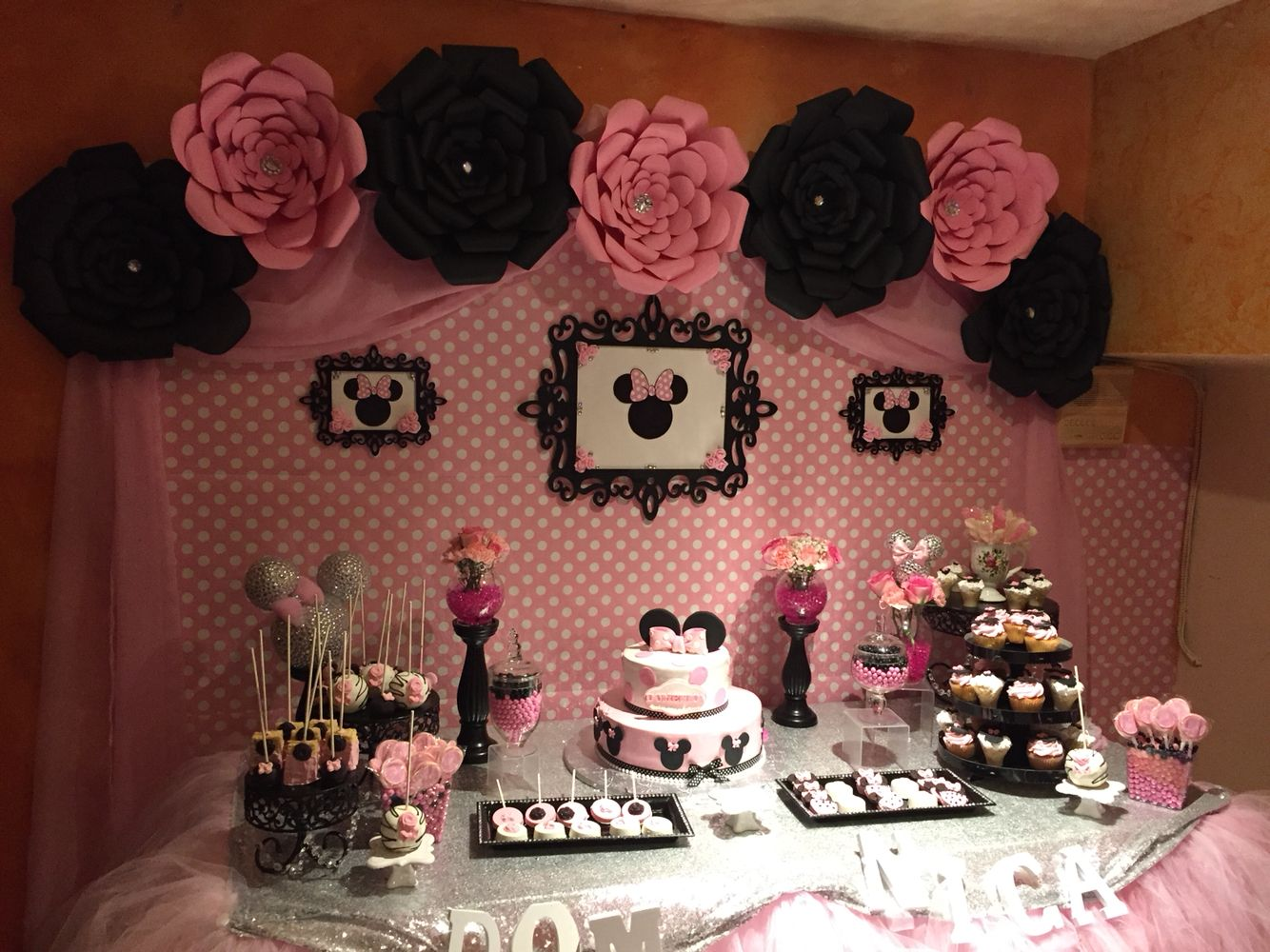 Pin by Karen R on DIY Minnie Mouse First Birthday Pinterest