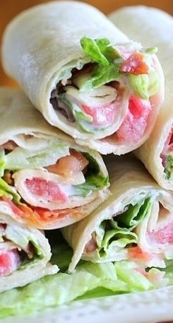 This may not be the traditional BLT sandwich with bread but the tortilla wrapped version makes for a tasty sandwich.