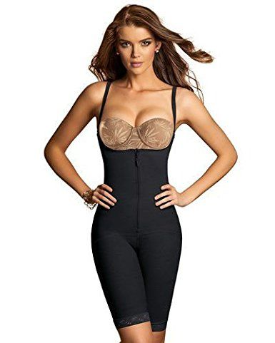 a90b5c536f7 Leonisa Women s Mid-Thigh Firm Compression Body Shaper Slimming Shapewear  at Amazon Women s Clothing store