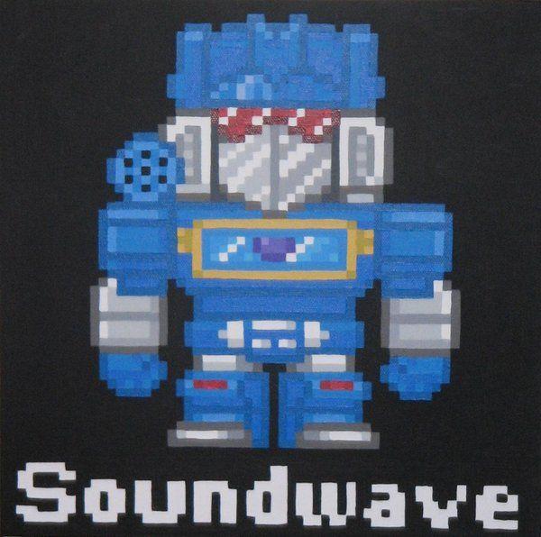 Soundwave Sound Waves Robot Art Artist