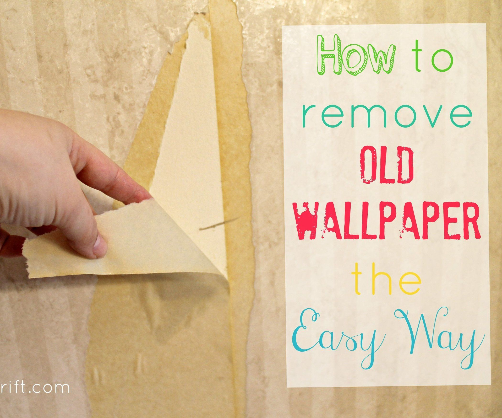 Accent A Wall Using A Plastic Bag: How To Remove Wallpaper The Easy Way