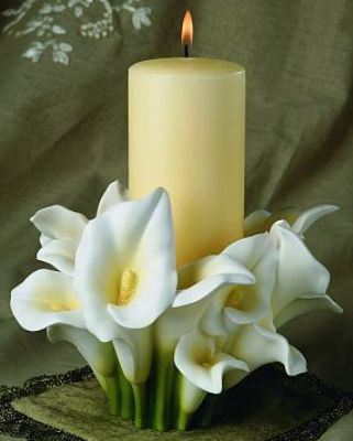 Unity Candle Calla Lily Candle Candle Holder Wedding