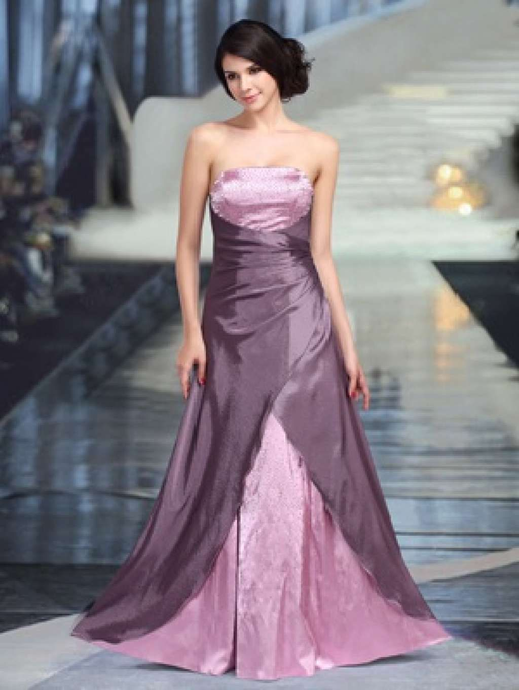 Lange gala jurk roze