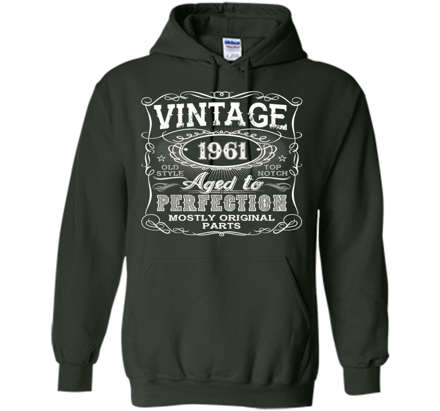 Vintage 1961 Aged To Perfection Tshirt 55th Birthday Gifts