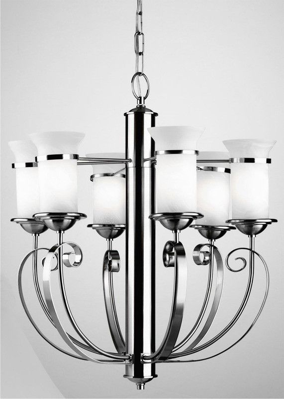 Forecast Lighting F1640 65 Chandelier Six Light In Silver Rust Finish Nice Design