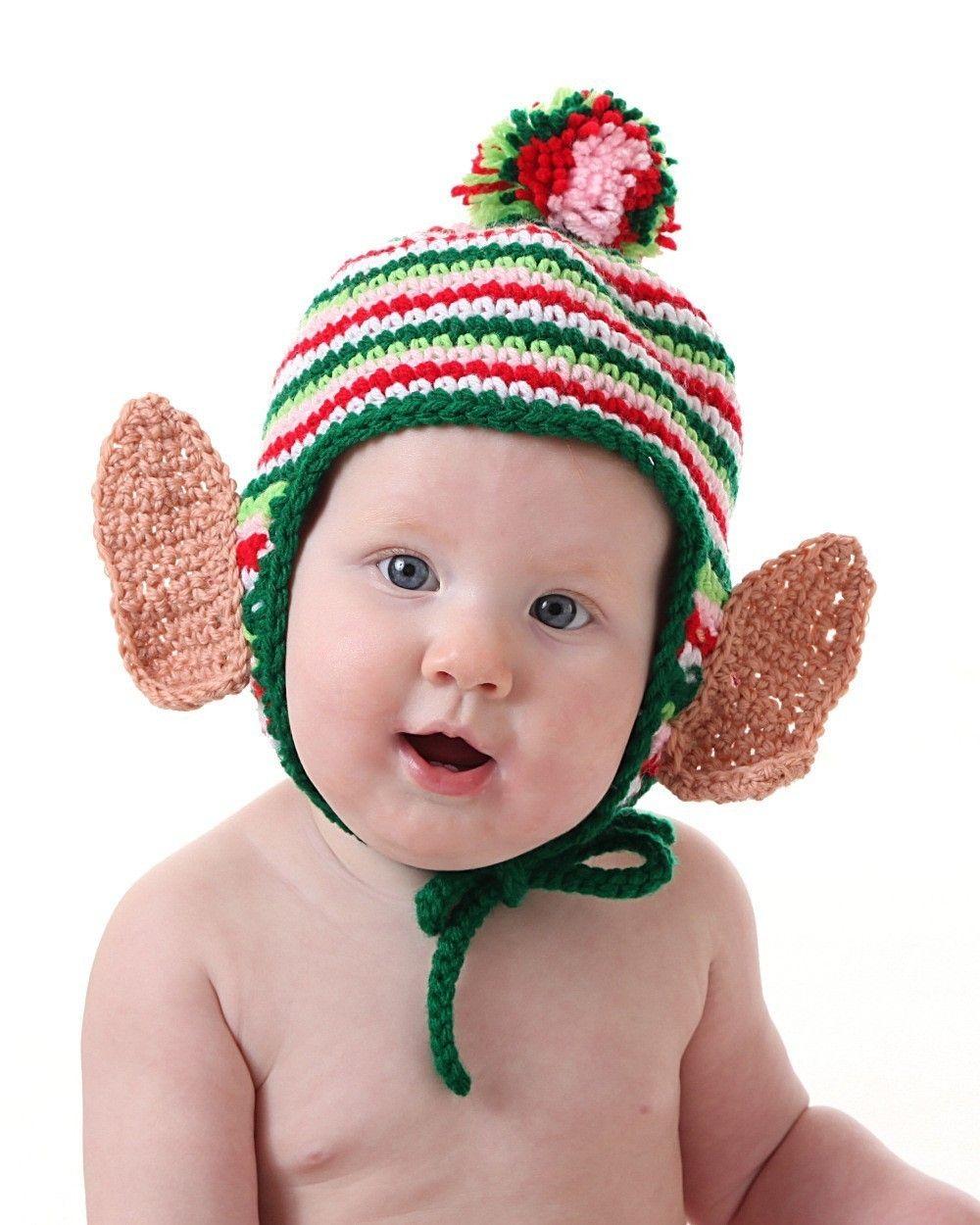 Christmas Elf Earflap Hat CROCHET PATTERN $5   Crochet   Pinterest