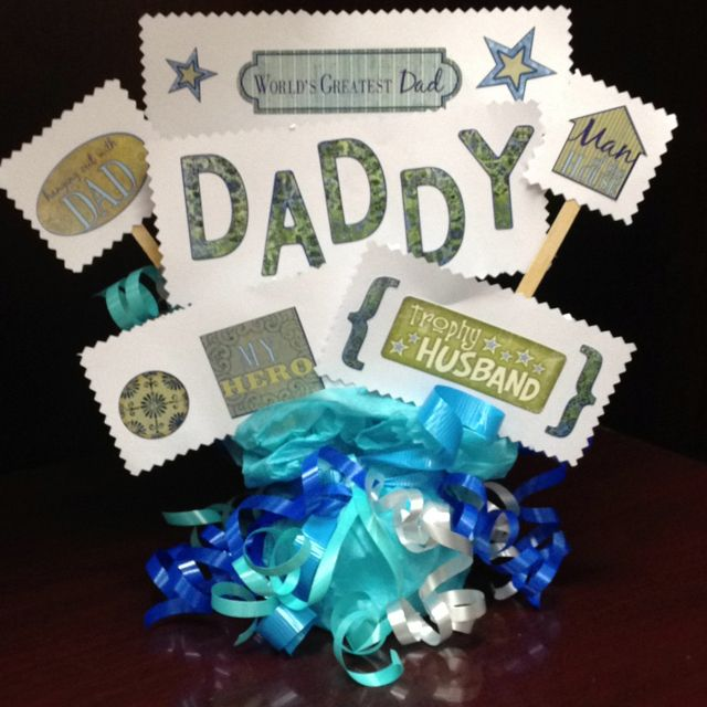 PACK 3 FATHERS DAY FISHING TOPPER EMBELLISHMENTS FOR CARDS OR CRAFTS