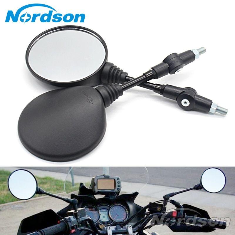 Best Seller Custom Black Universal Folding Motorcycle Mirror
