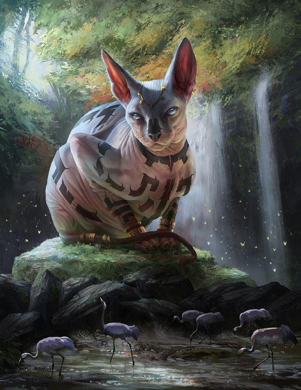 Life God by Yefumm on deviantART #Cat #God #Forest