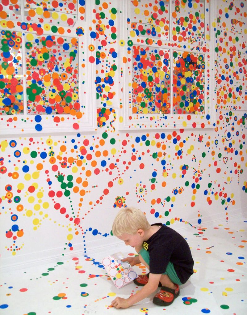 yayoi kusama obliteration room exhibition in 2019. Black Bedroom Furniture Sets. Home Design Ideas