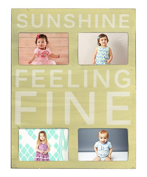 Take a look at this 'Sunshine' Photo Plaque Wall Art I bought at zulily today!