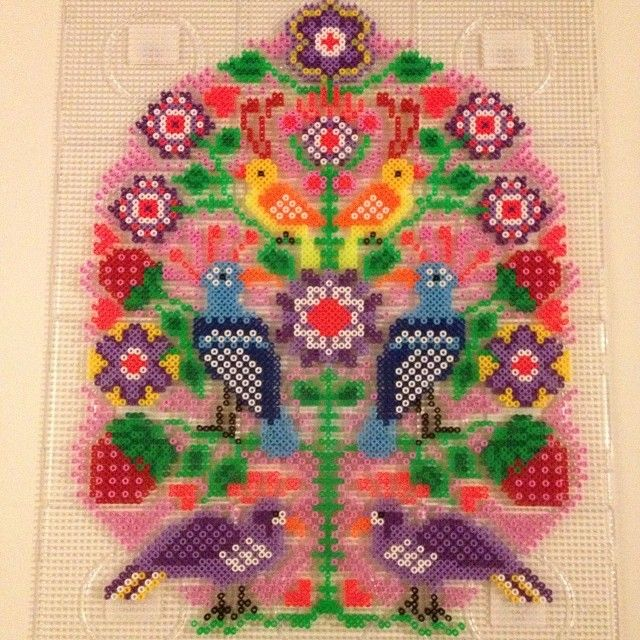 Hama perler bead Art by Lisa Haulrik