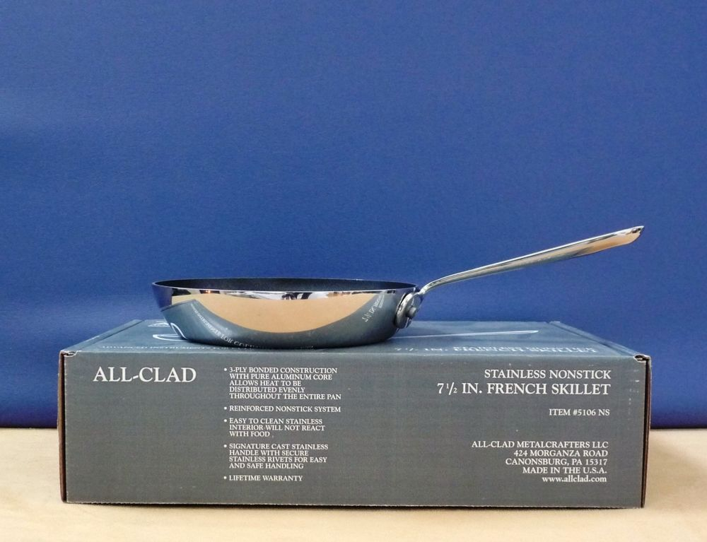 All Clad 7 5 Inch French Skillet Stainless Nonstick Allclad All clad non stick skillet