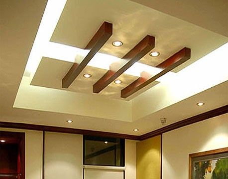 Wood Beams On Dropped Down Ceilng False Ceiling Living Room Pop