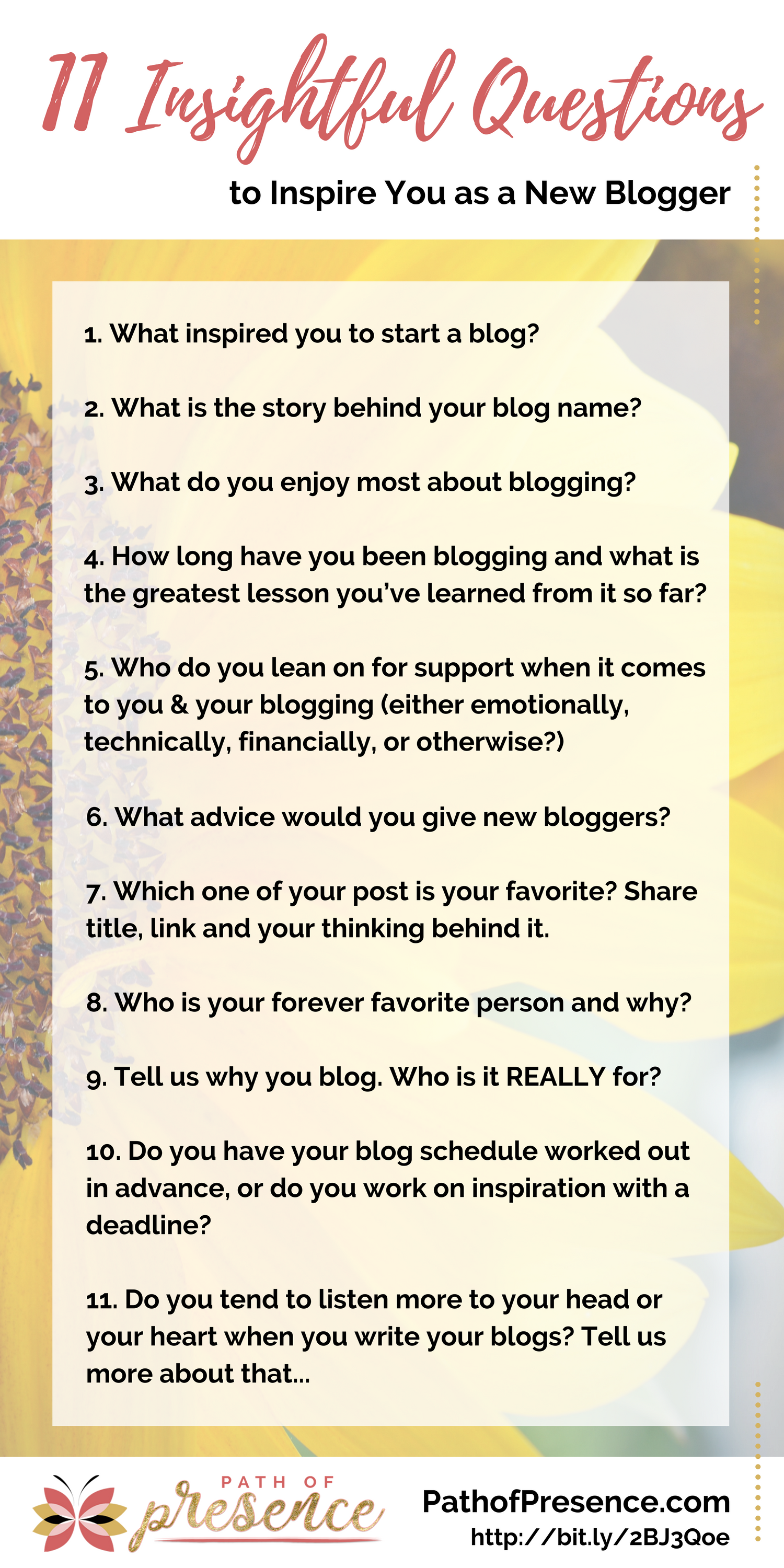 11 Questions That Will Inspire You as a Blogger | Blog