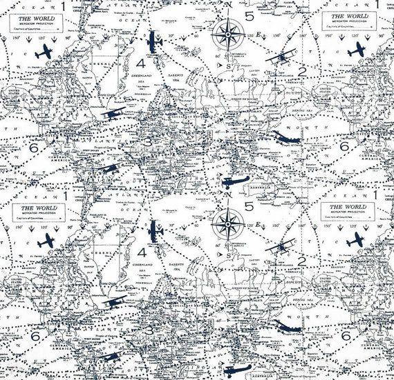 Window valance premier navy air traffic map aviation world map window valance premier navy air traffic map aviation world map blue white gumiabroncs Gallery