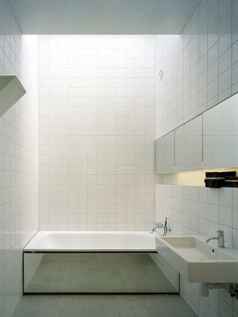 baignoire miroir bathroom Pinterest Salle de bains, Salle et Sdb