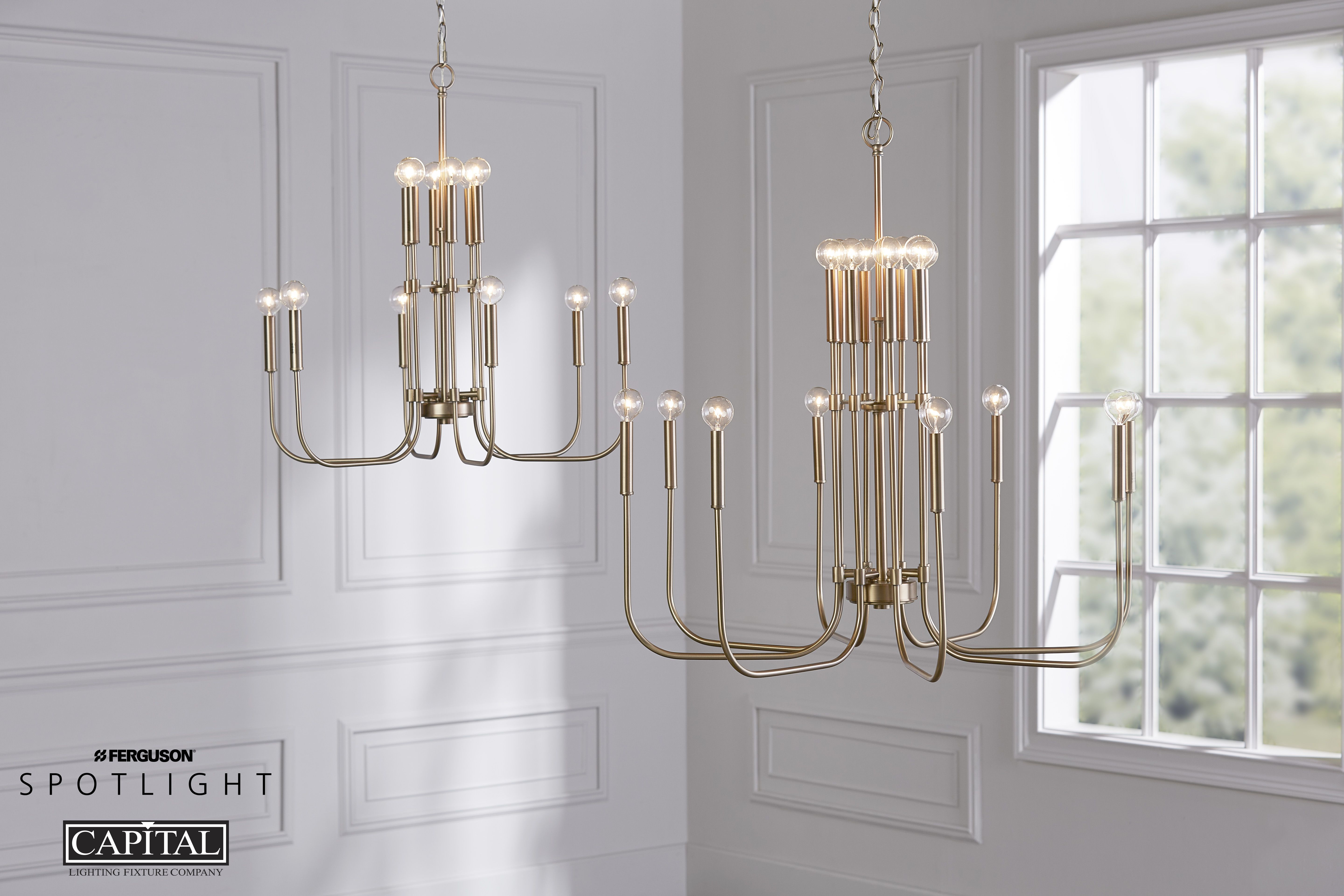 Capital Lighting Zander Collection Large Foyer Chandelier