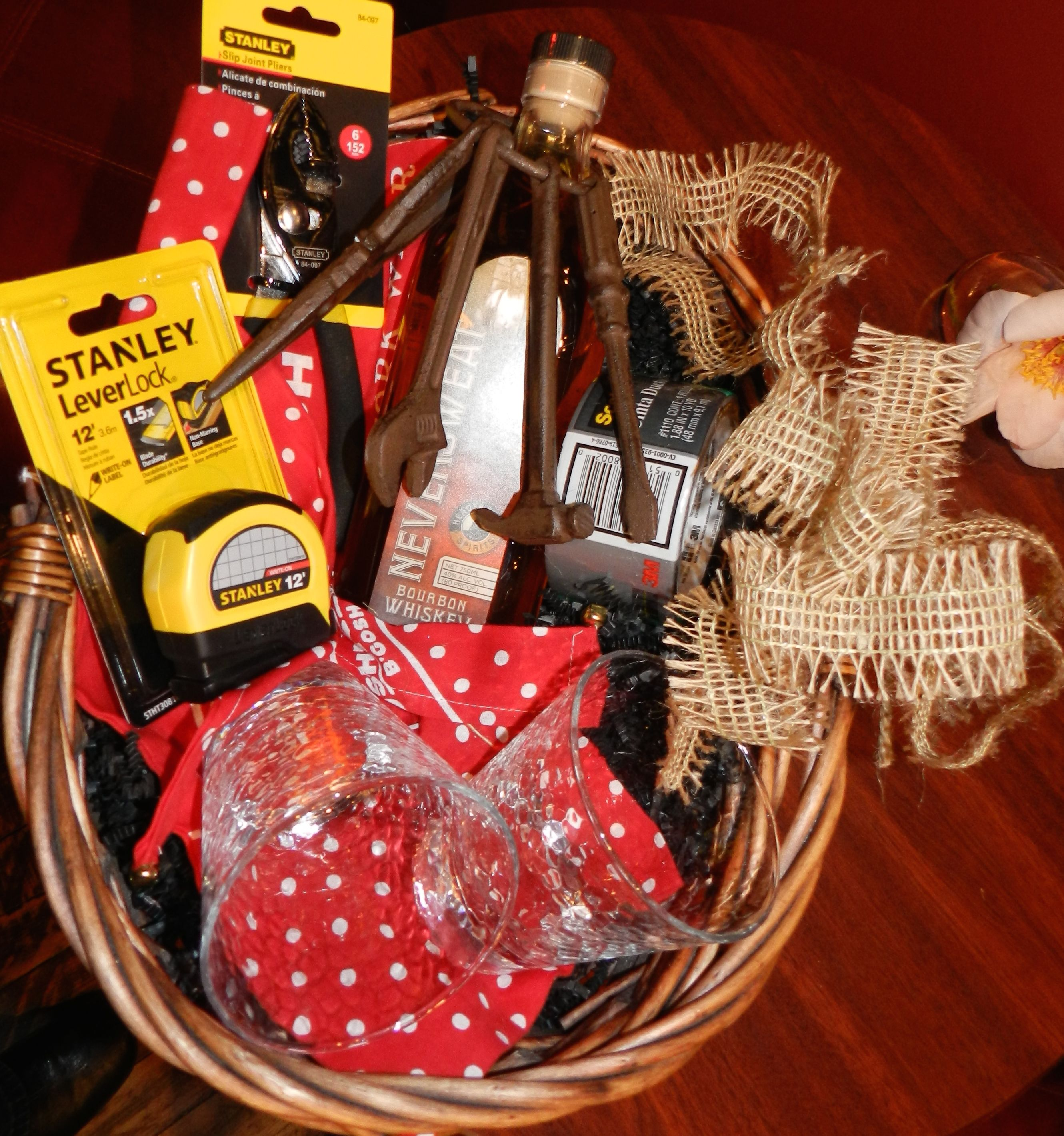 Gift Basket Tool Time Father S Day Gift Basket With Ummm Tools And Whiskey You Always Were Dad S Favor Fathers Day Gift Basket Gift Baskets Corporate Gifts