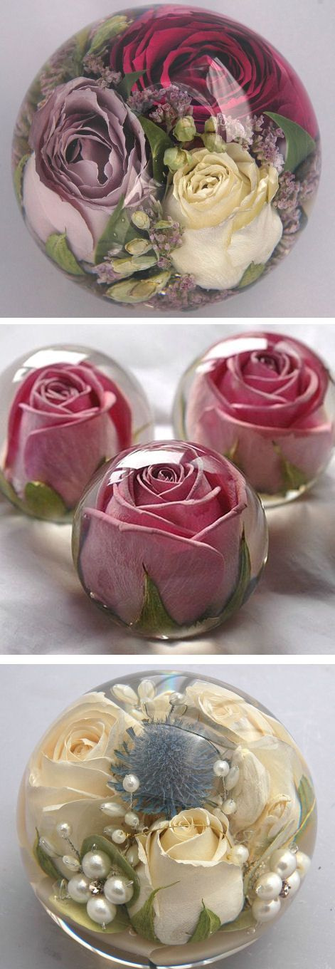 Cool Have Your Wedding Flowers Made Into A Keepsake Paperweight