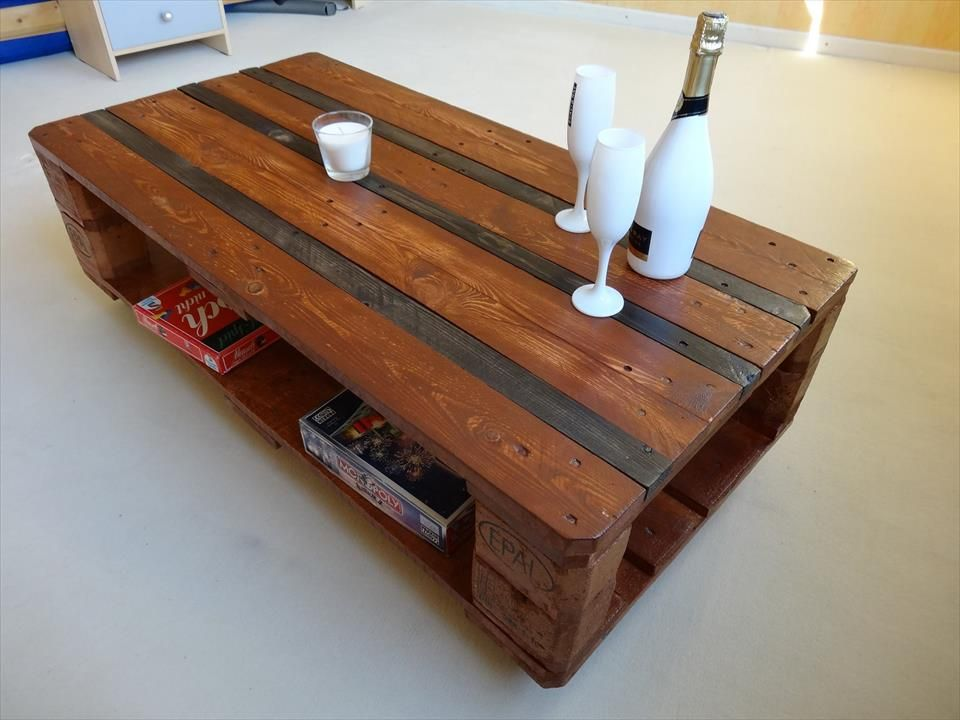 Euro Pallet Coffee Table With Wheels 101 Pallet Ideas Europall Pinterest Euro Pallets