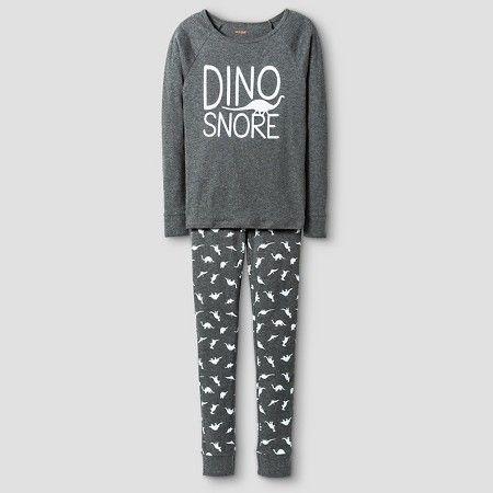 Boys' Organic Cotton Dino Snore Pajama Set - Cat & Jack™ : Target