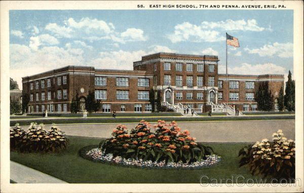 East High School, 7th and Penna. Avenue Erie Pennsylvania
