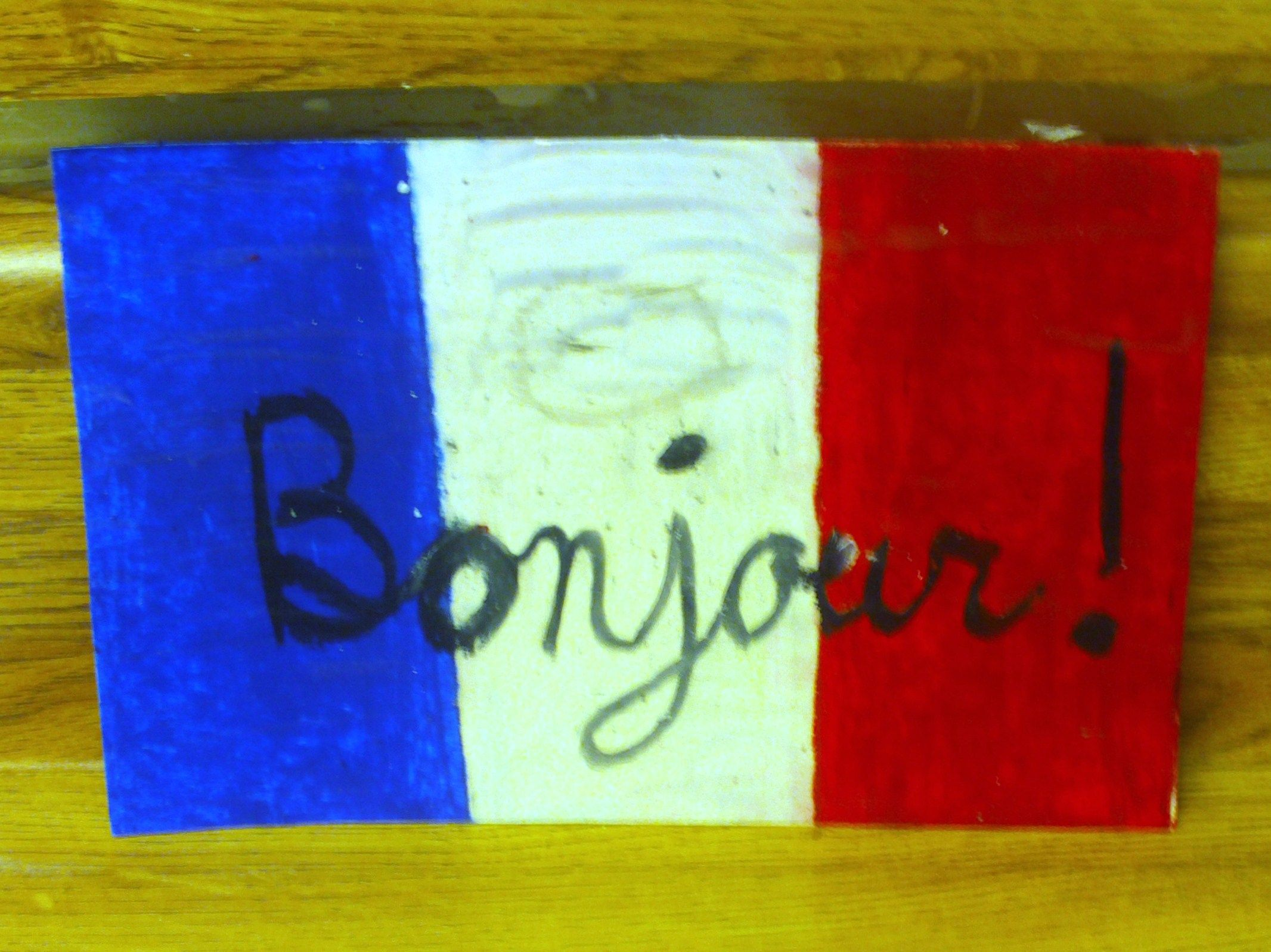 French Crafts For Kids To Make Part - 15: How To Make A French Flag Card