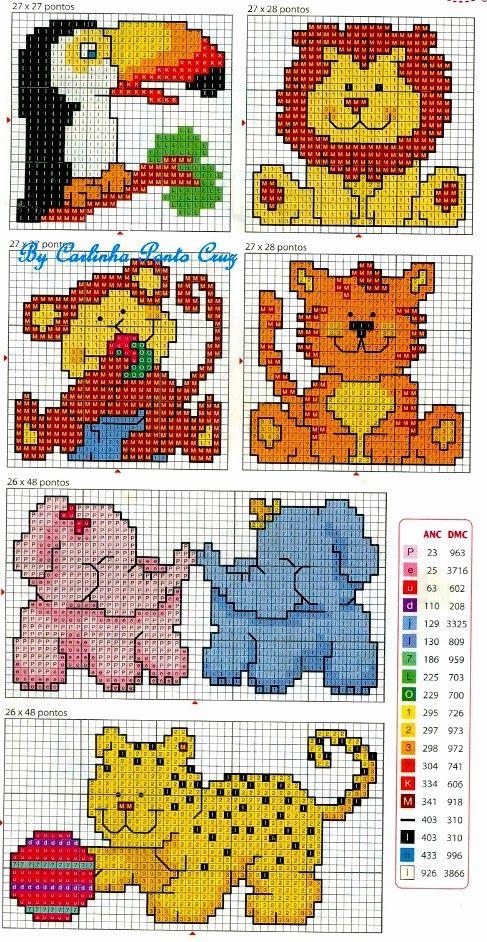 Punto croce schemi gratis e tutorial raccolta di for Piccoli ricami punto croce per bambini