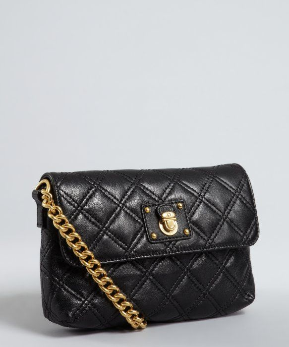 Marc Jacobs : black quilted leather 'Single' mini chain shoulder ... : marc jacobs quilted bags - Adamdwight.com