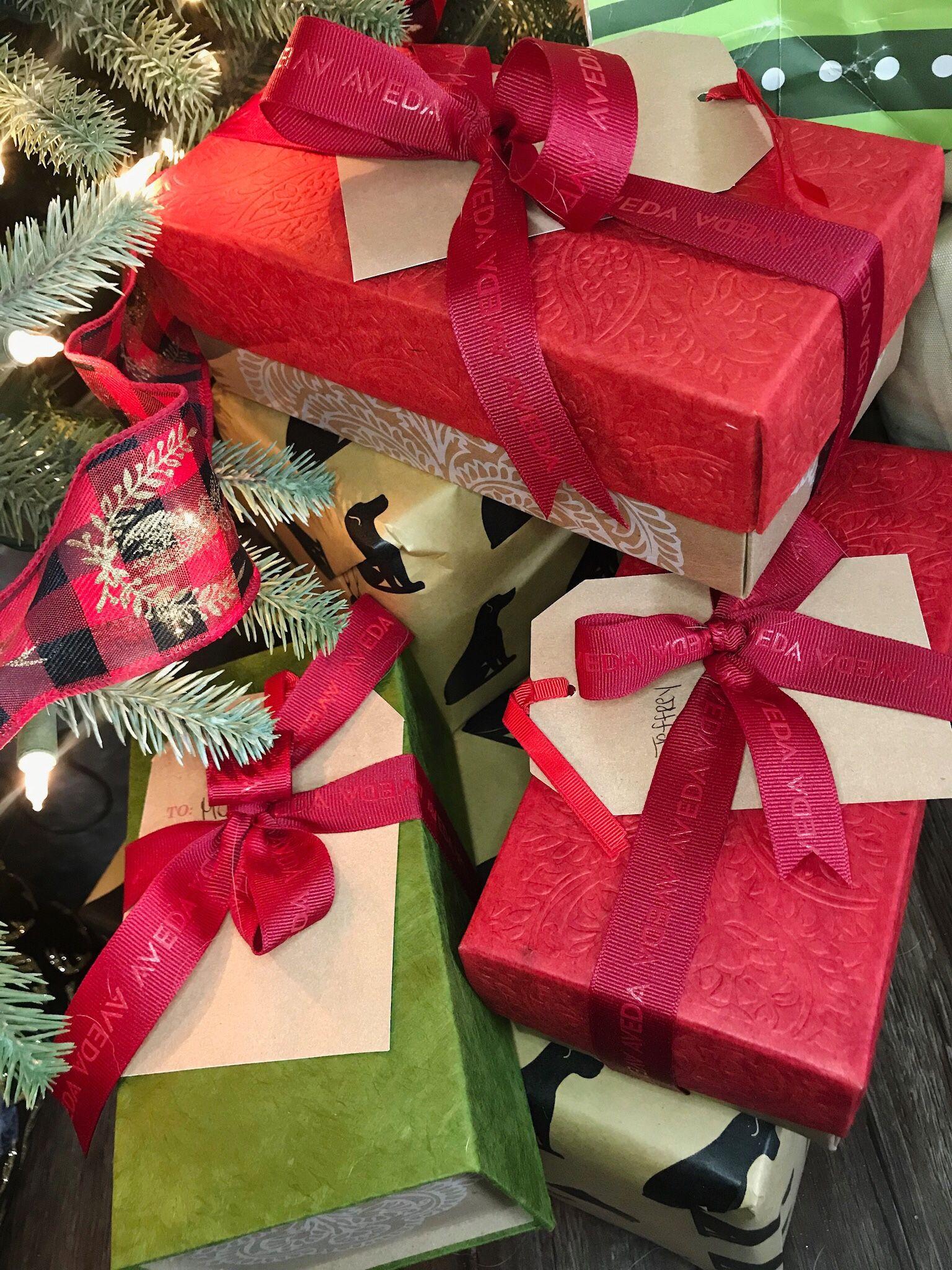 Give aveda this season smells like aveda gift wrap