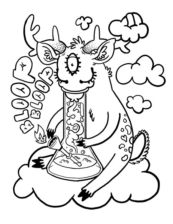 Weed Coloring Pages Tattoo 420 Sheets Free Sketch Coloring Page