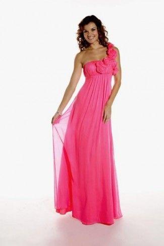 Pink One Shoulder Bridesmaid Dress - Ocodea.com