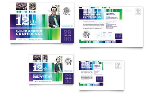 Business leadership conference postcard template design ideas business leadership conference postcard template accmission Images